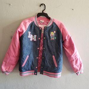 Lizzie McGuire Varsity Denim Pink Jacket